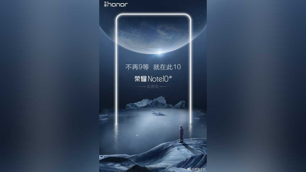 This poster saw proof of honor note 10 soon landing