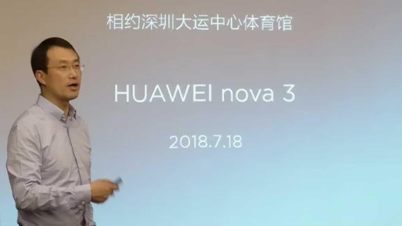 Huawei Nova 3 Launch Date