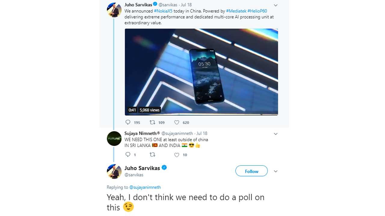 Juho Sarvikas Nokia X5