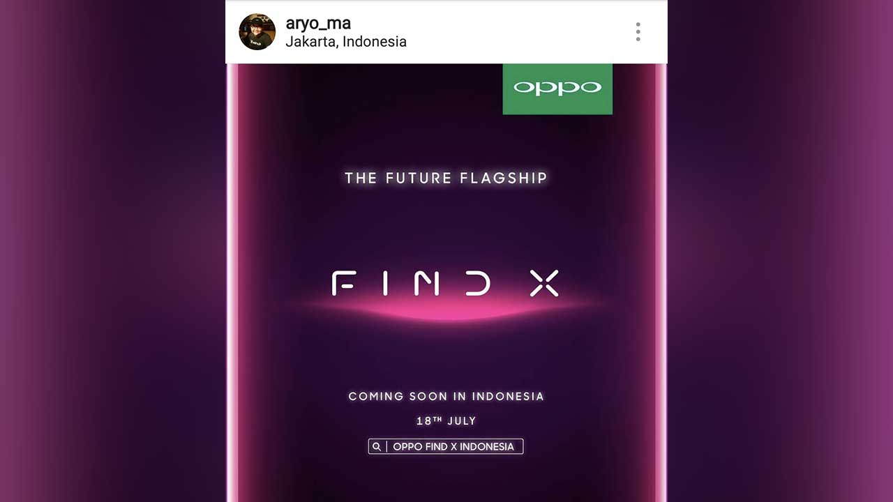 OPPO Find X Pre Order Indonesia