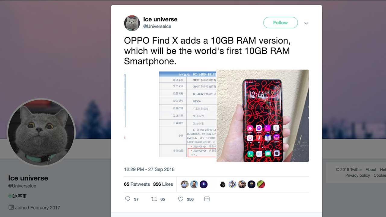 OPPO Find X 10 GB