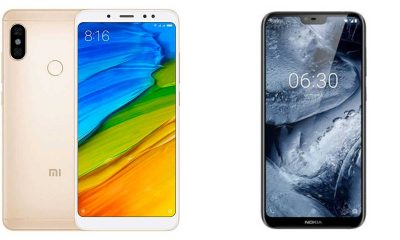 Redmi Note 5 vs Nokia 6.1 Plus 400x240