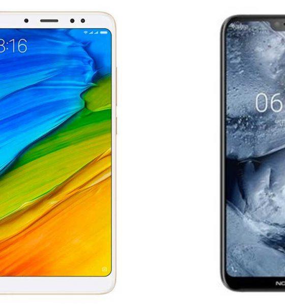 Redmi Note 5 vs Nokia 6.1 Plus 560x600