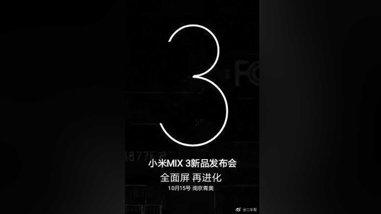 Xiaomi Mi MIX 3 Date Launch