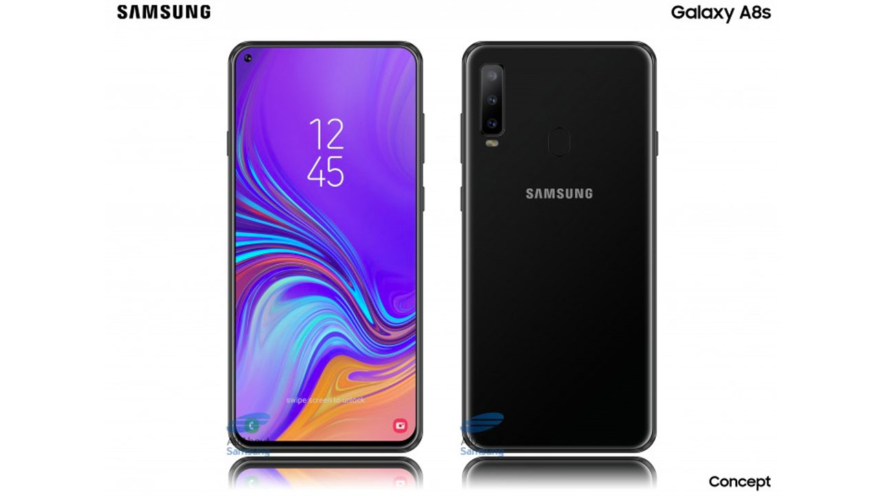This screenshot Reveals the Position of the Galaxy A8s Front Camera
