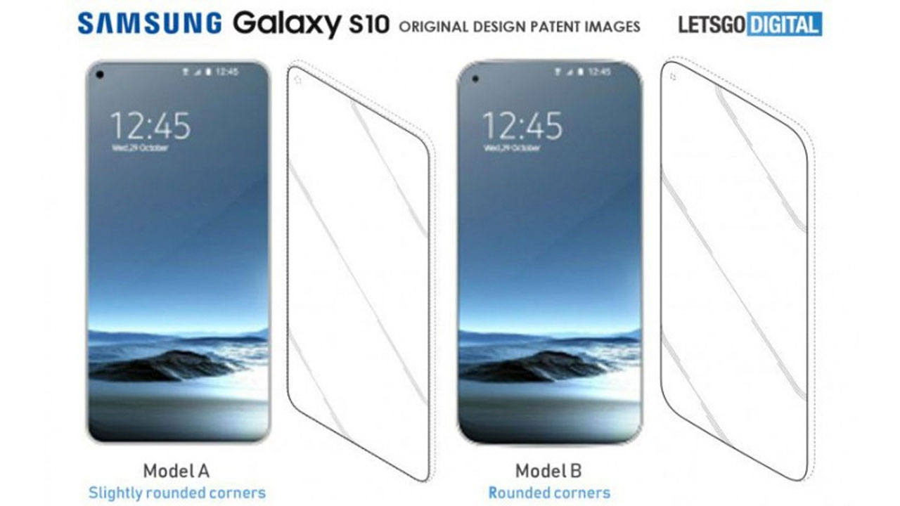 The Screen Design of the Galaxy S10 is increasingly conical