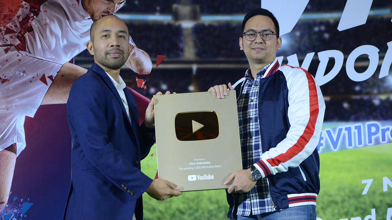 Vivo Receives Gold Play Button from YouTube