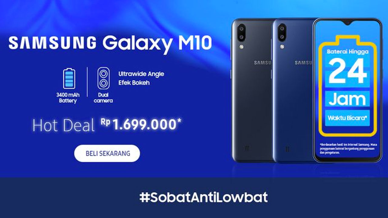 Take note! March 27, 2019 Samsung starts selling Galaxy M10