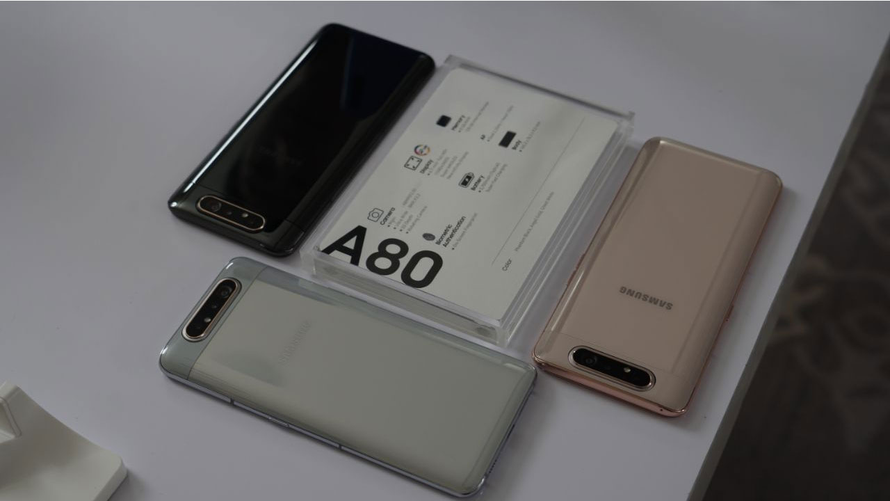 Find out the specifications and key features of the Samsung Galaxy A80