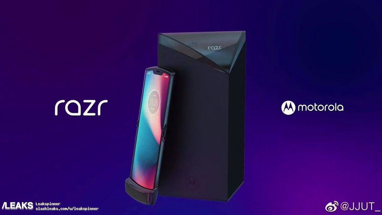Official Render of the Motorola RAZR Box (2019) Nongol on Weibo