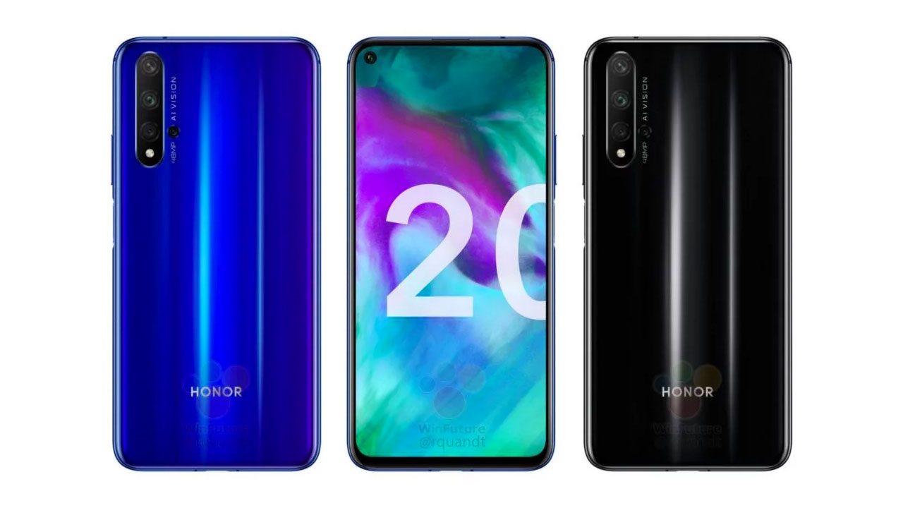 Honor 20 Specifications and Render Revealed