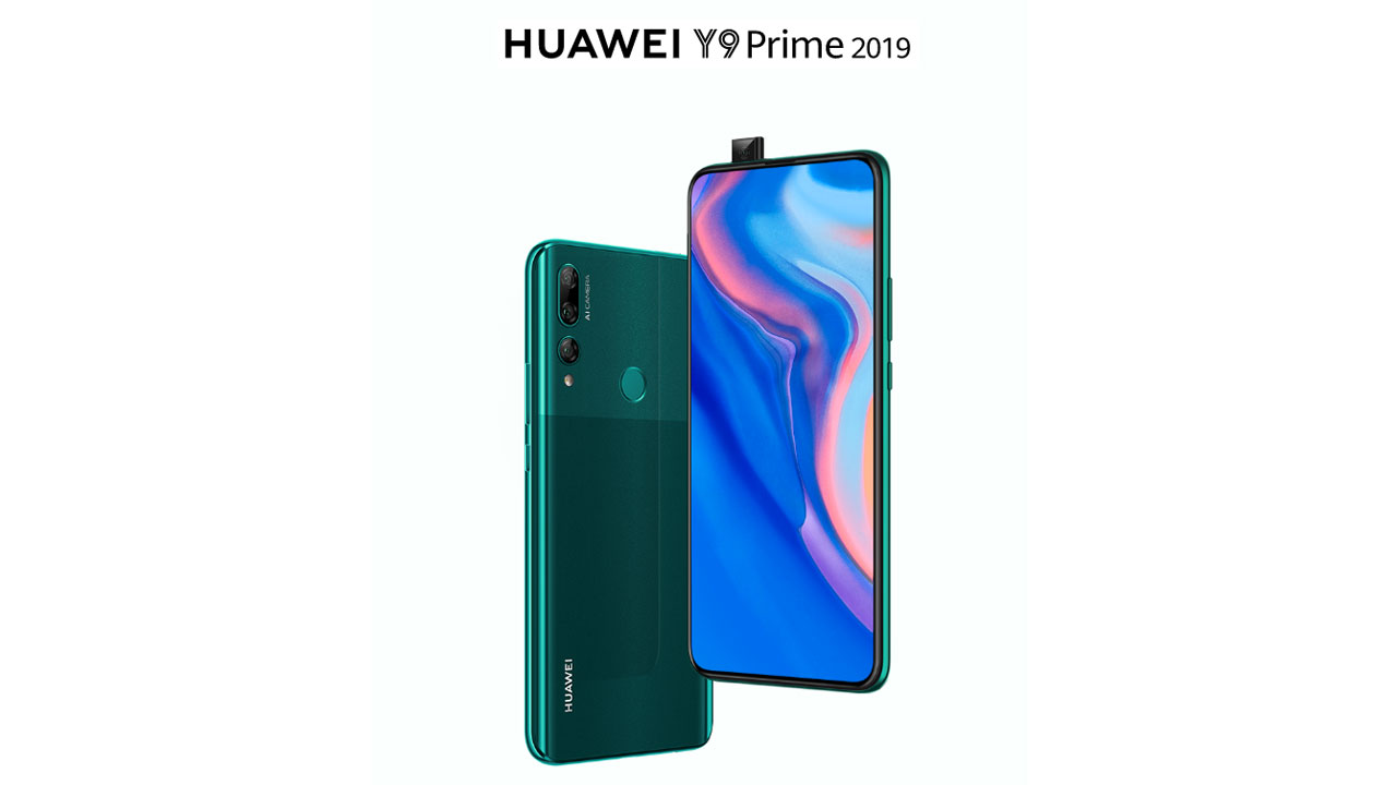 2019 Huawei Y9 Prime with Camera Pop-up Appear on the Official Site