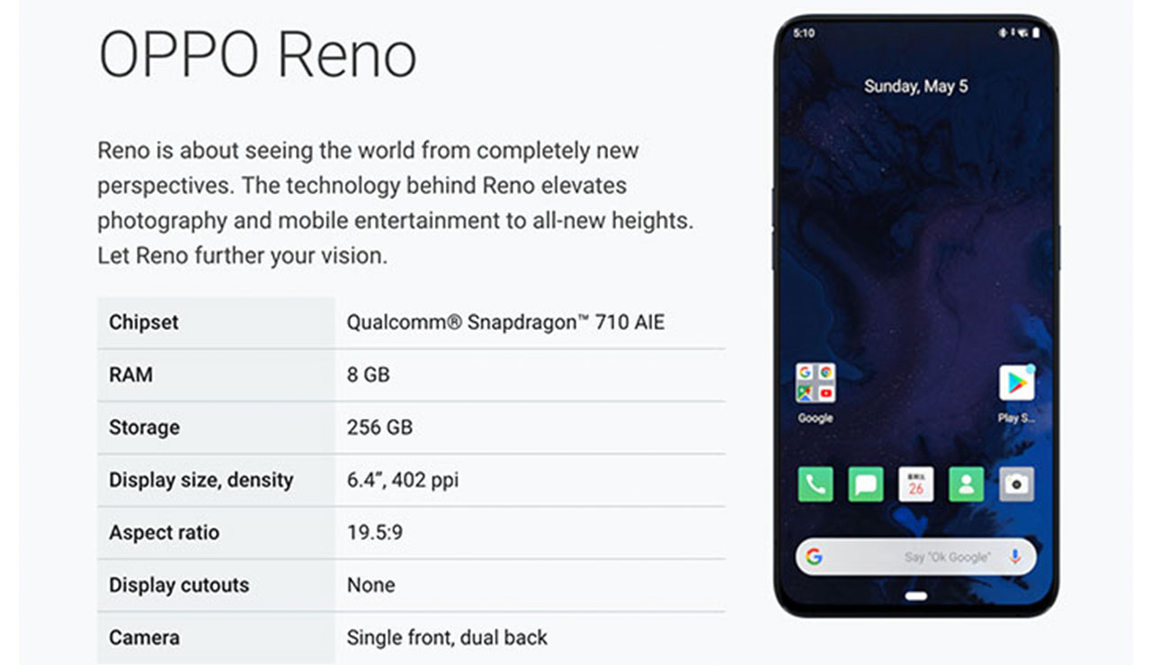 OPPO Reno Officially Joins Android Q Beta Program