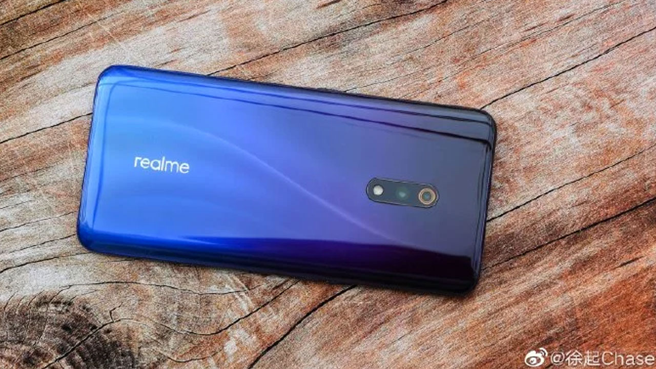 This official photo reveals the back of Realme X