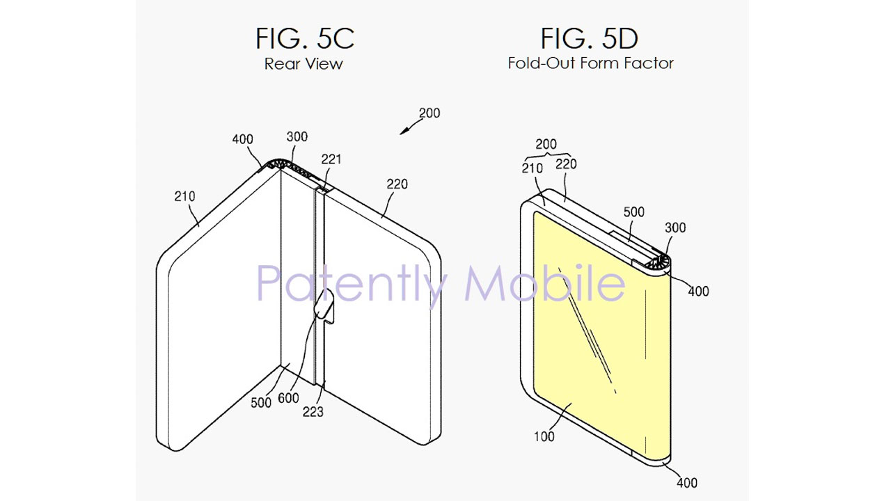 """Samsung has a patent """"Fold-out"""", an alternative to the Galaxy Fold"""
