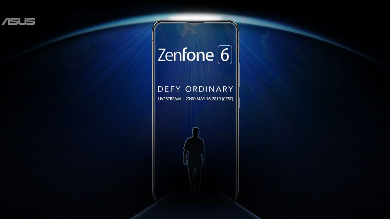 Official Teaser Reveal the ZenFone 6 Screen without bangs