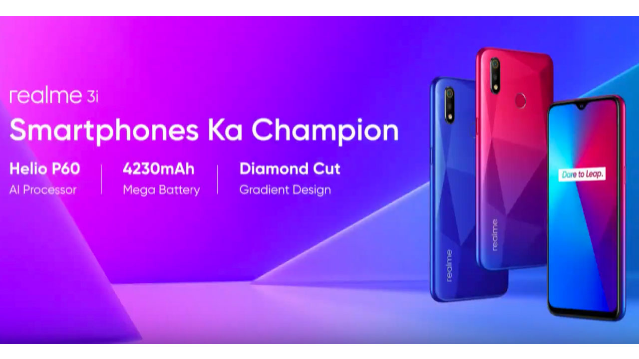 Realme 3i Released as Realme C2 and Realme 3 Intermediary