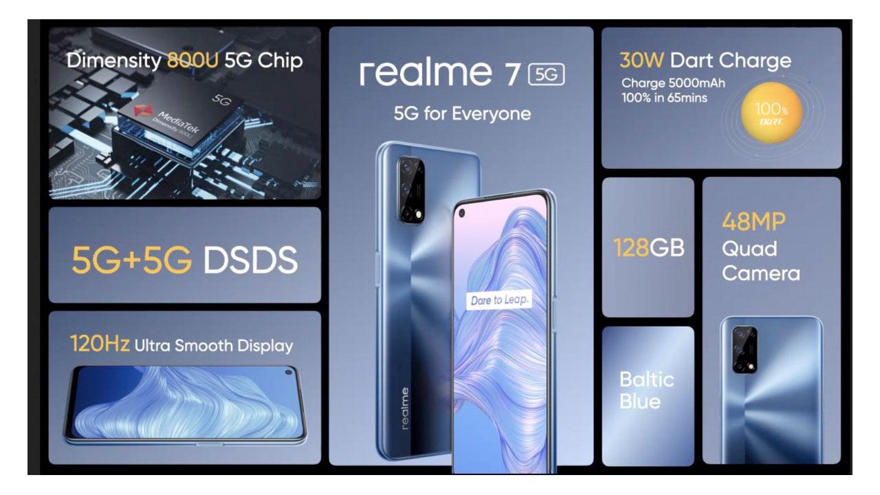 Realme Umumkan Kehadiran realme 7 5G, Diotaki Dimensity 800U 5G
