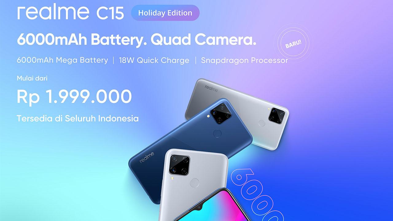 Realme Hadirkan C15 Holiday Edition untuk Anak Muda Indonesia